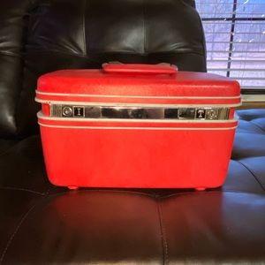 Vintage Red Samsonite Train Case